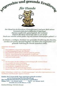 artgerechte Ernährung-Seminar